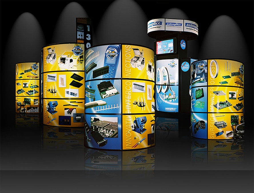 trade show exhibit design for an elecrtonic component manufacturer