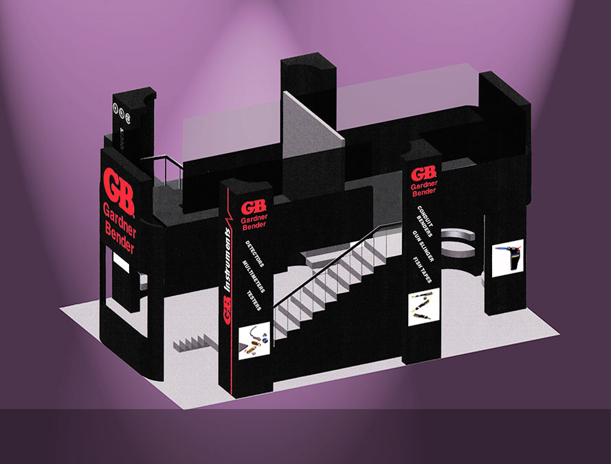 trade show exhibit design for an electronics manufacturing company