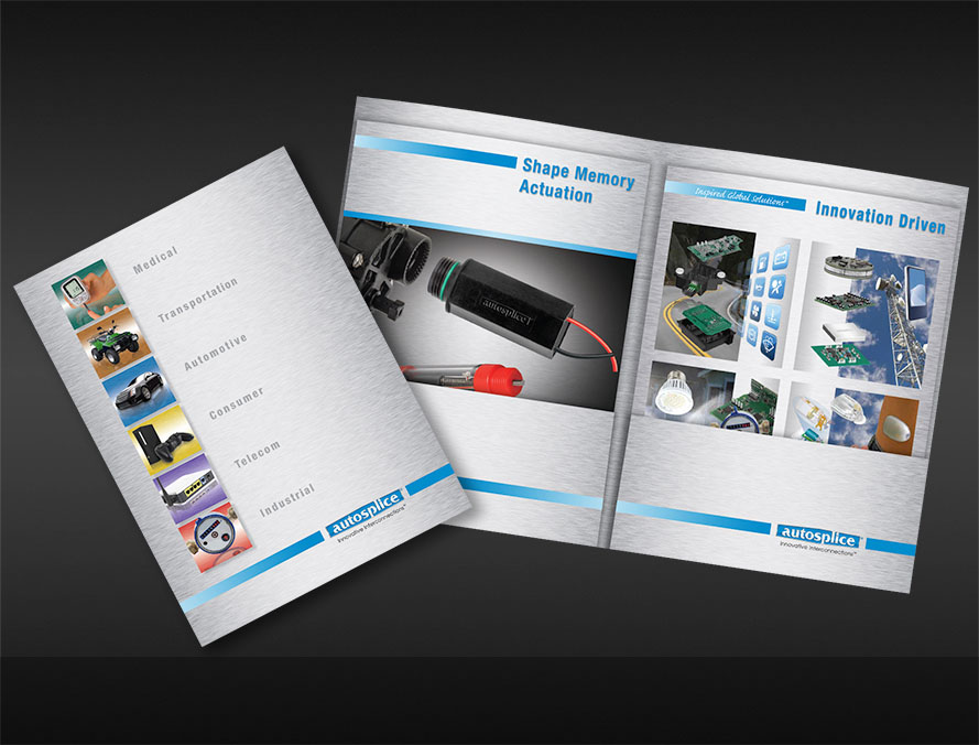 print brochure design for electronics components products