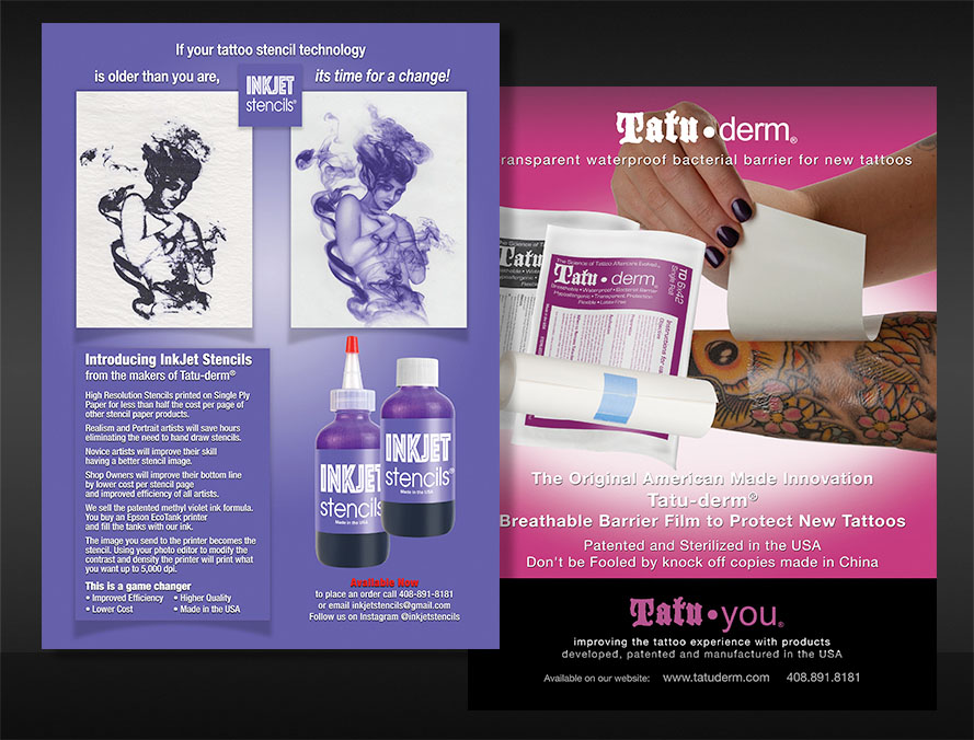 print brochure design for tattoo skin care products