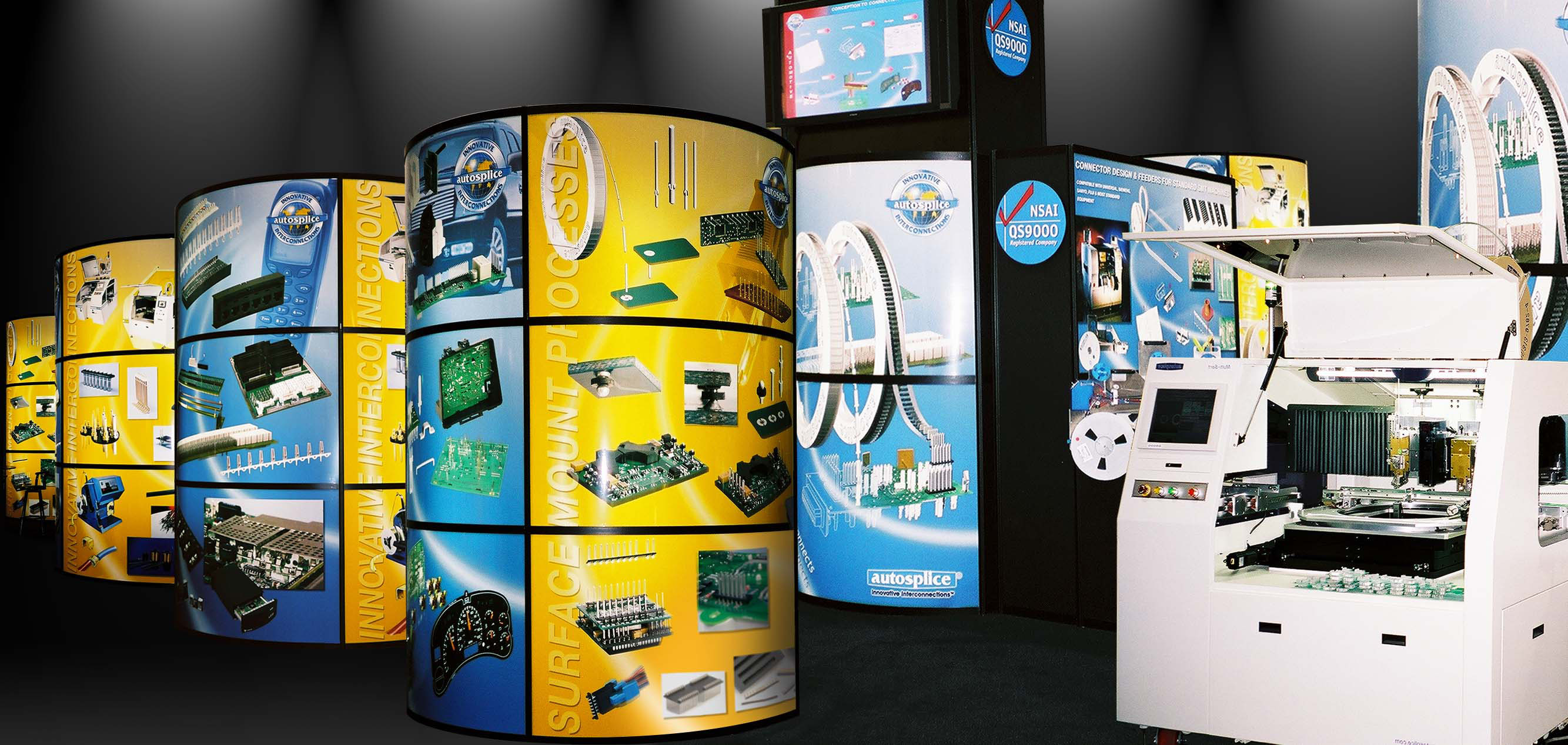 tradeshow exhibit design and product photography for an electronic components company